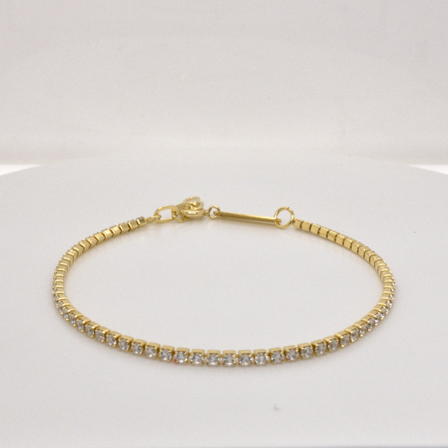 LETTICIA THIN – Armband mit Strass // Silber, Gold oder Roségold