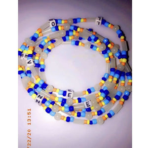 Mel-B Name waist beads[five Pieces]