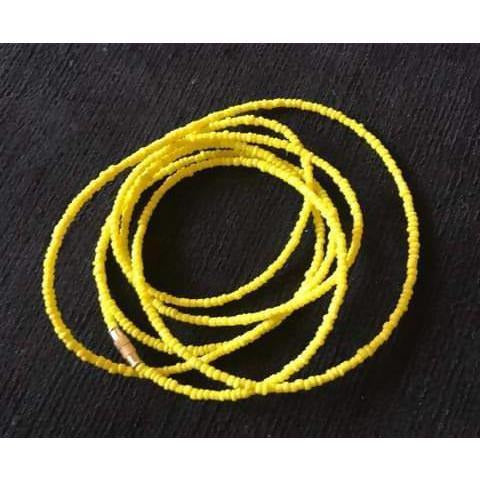 Mel-B Yellow waist beads [five pieces]