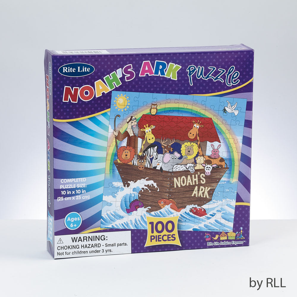 puzzle box cover with a cartoon version of Noah's Ark