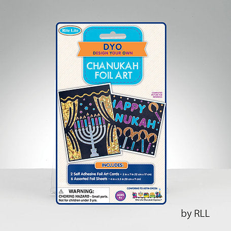 Chanukah foil art and craft kit to make cards