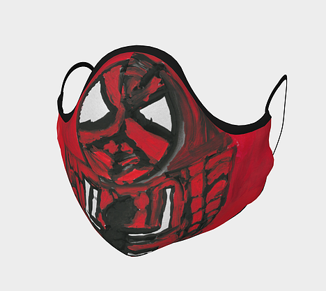 Red Spiderman face mask