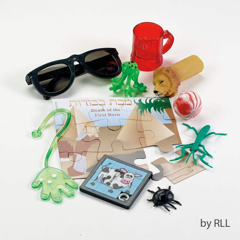 various toys that represent the 10 plagues