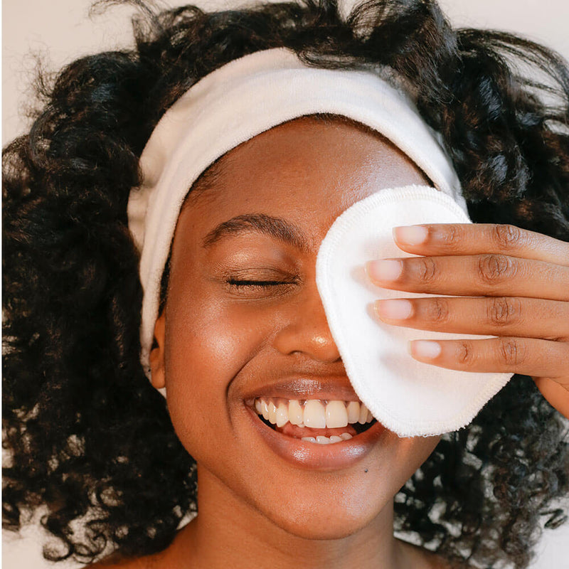 Organic washable make-up remover wipes