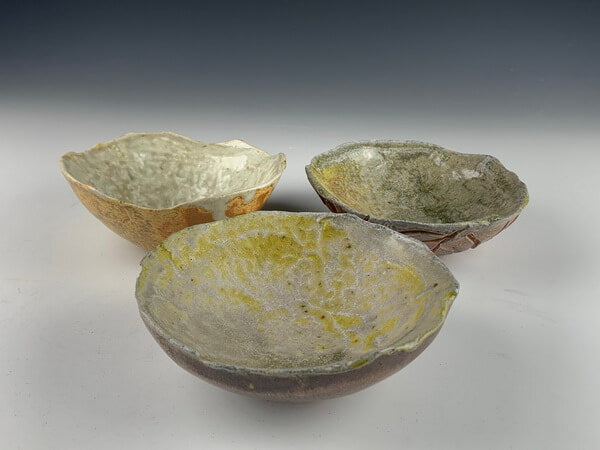 Set of Small Wood Fired Bowls