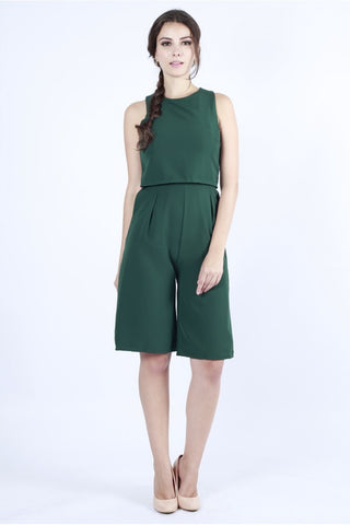 ABENA CULOTTE JUMPSUIT (FOREST GREEN)