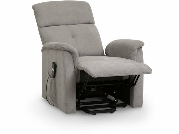 Ava Modern Compact Rise & Recline Chair Taupe Velvet