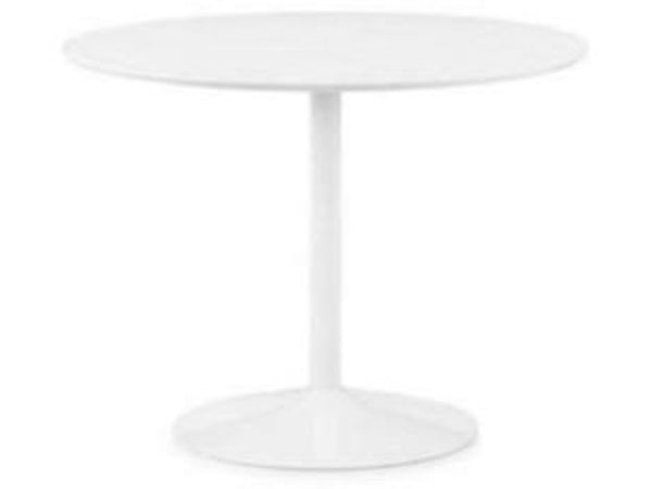 Blanco Round White Pedestal Table (100cm Diameter)