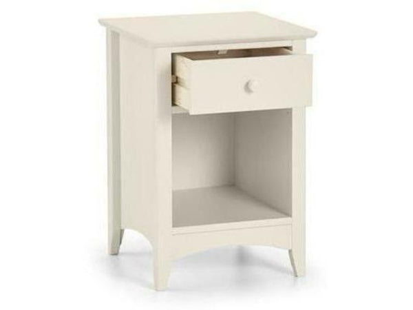 Cameo 1 Drawer Bedside - Stone White