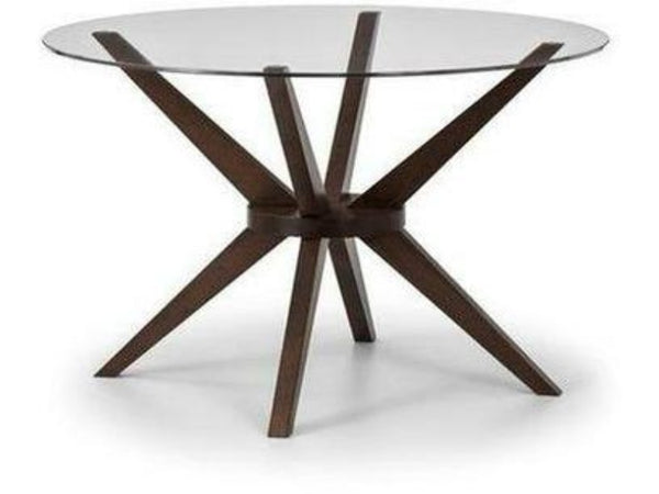 Chelsea Medium Glass Top Dining Table (120cm Diameter)