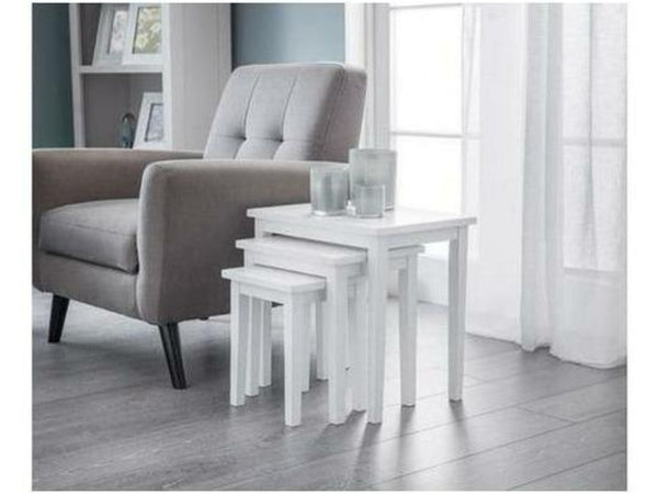 Cleo Nest Of Tables Pure White Finish