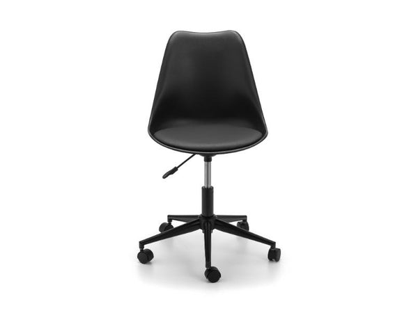 Erika Office Chair Black (Pack Of 2)