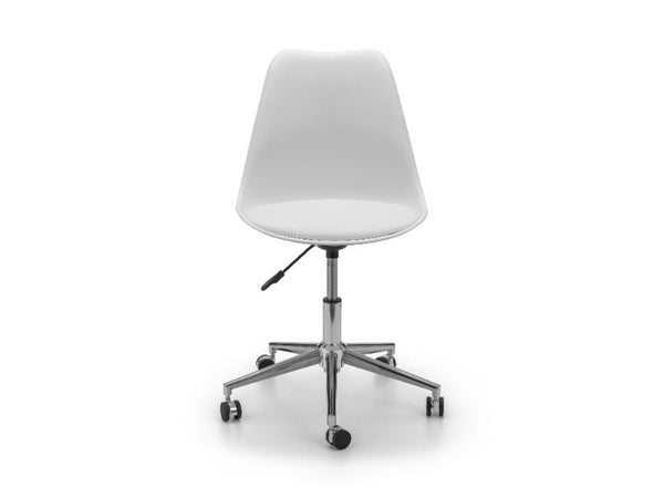 Erika Office Chair White/Chrome (Pack Of 2)