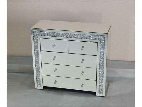 Mocka MDF Glass Large Chest