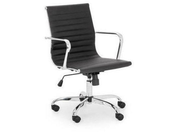 Gio Upholstered Office Chair Black/Chrome (Pack Of 2)