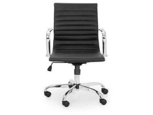 Gio Upholstered Office Chair - Black/Chrome (Pack Of 2)