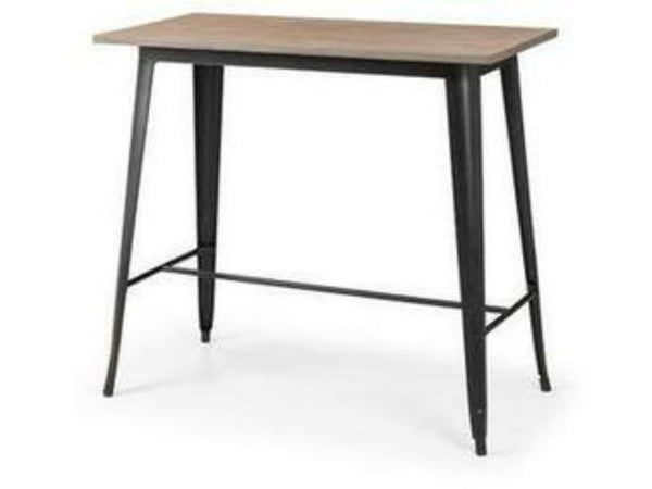 Grafton Mocha Elm/Black Bar Table