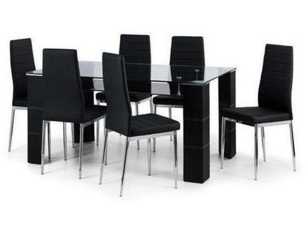 Greenwich Black Chrome Dining Chair (Pack Of 2)