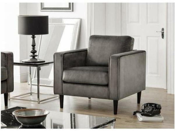 Hayward Grey Velvet Armchair