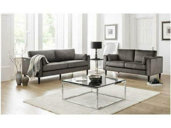 Hayward Grey Velvet Grand 3 Seater Sofa