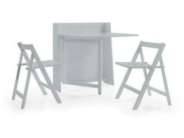 Helsinki Compact Folding Light Grey Dining Set