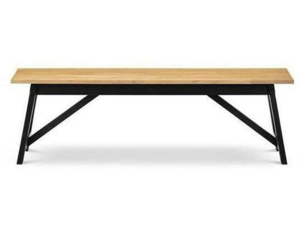 Hockley Black/Oak Bench