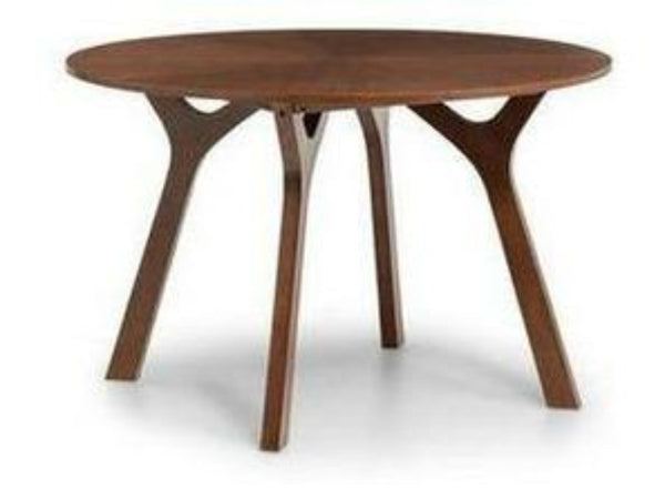 Huxley Round Table with Real Walnut Veneer