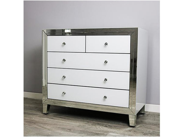 Bianco White MDF Large Multi Drawer Chest