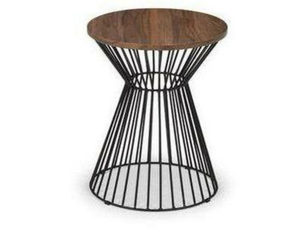 Jersey Round Wire Lamp Table Walnut