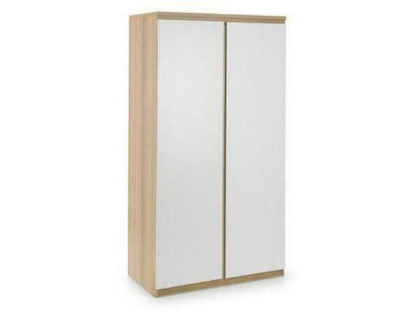 Jupiter 2 Door Wardrobe - White/Oak