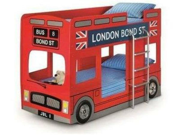 London Bus Bunk Bed Red Lacquered Finish