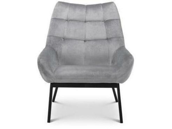 Lucerne Velvet Chair Grey