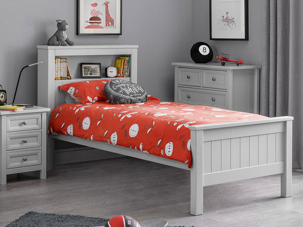 Maine Bookcase Bed Dove Grey