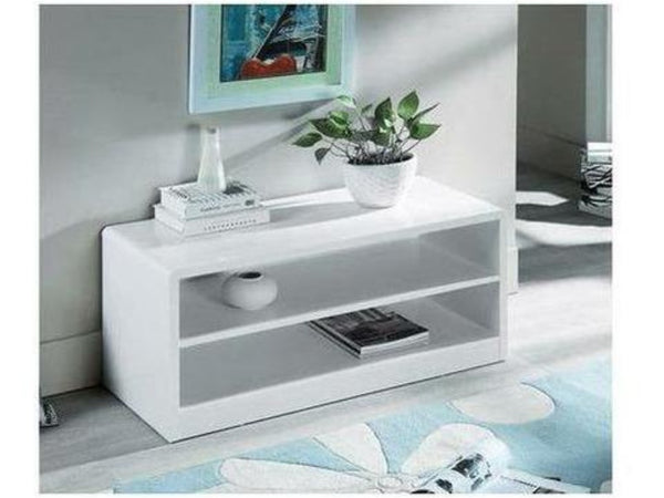 Manhattan High Gloss White 2 Drawer Media Unit