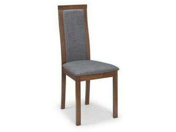 Melrose Grey Walnut Upholstered Chair (Pack of 2)