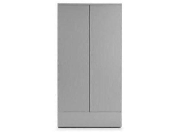 Monaco 2 Door 1 Drawer Wardrobe - Grey Gloss