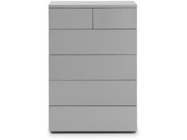 Monaco 4+2 Drawer Chest - Grey Gloss