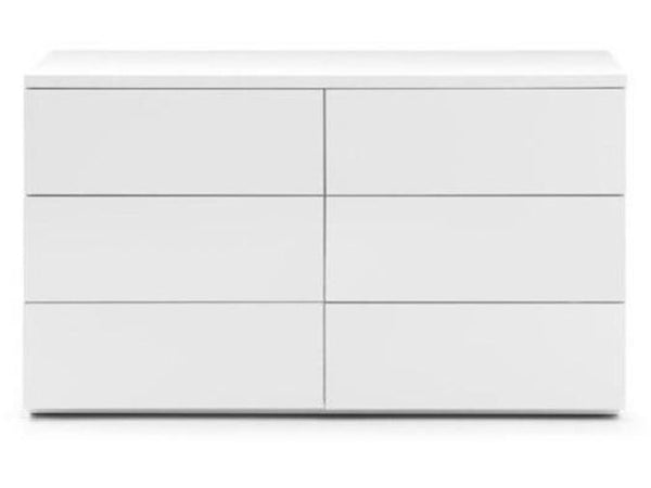 Monaco 6 Drawer Wide Chest - White Gloss