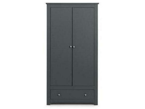 Radley 2 Door 1 Drawer Wardrobe - Anthracite
