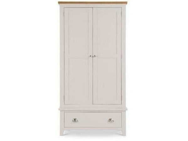 Richmond 2 Door 1 Drawer Wardrobe Elephant Grey