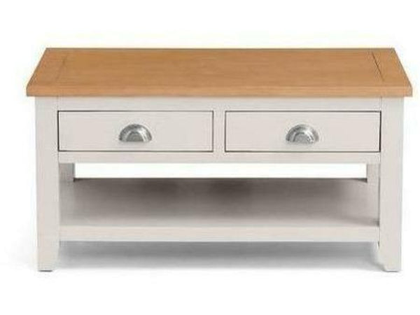 Richmond Coffee Table with 2 Drawers - Grey/Oak