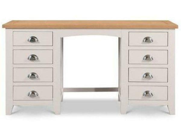 Richmond Twin Pedestal Dressing Table Elephant Grey