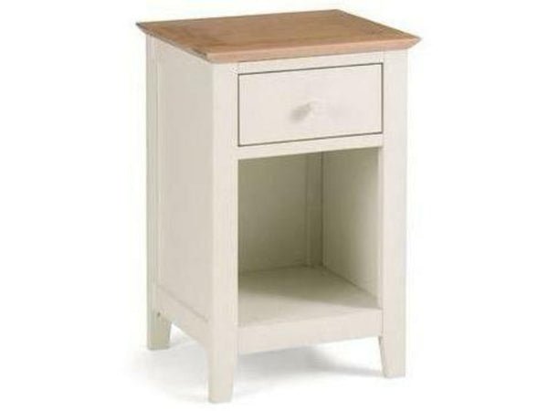 Salerno Shaker Ivory/Oak 1 Drawer Bedside
