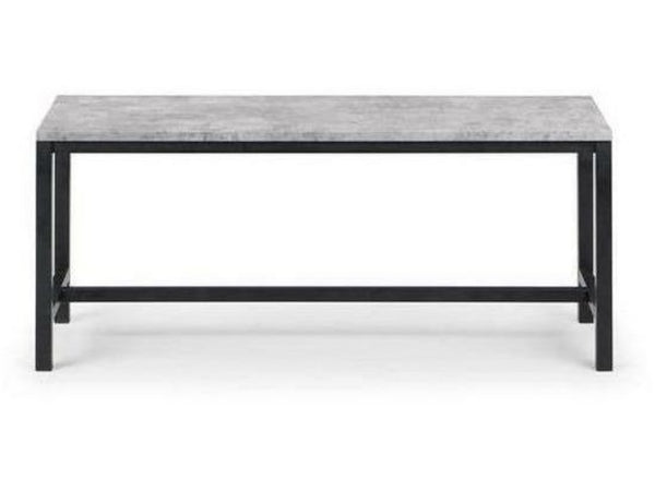 Staten Concrete Black Bench