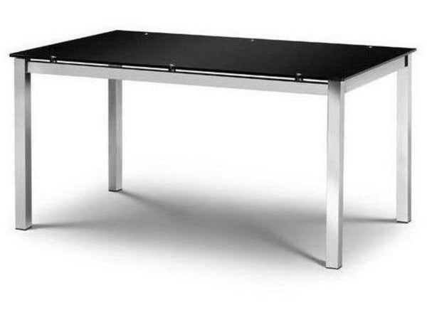 Tempo Black Glass Dining Table (160cm x 90cm)