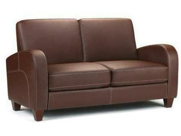 Vivo 2 Seater Sofa Chestnut Faux Leather
