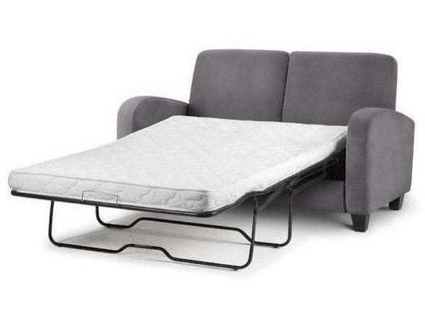 Vivo Fold Out Sofa Bed - Dusk Grey Chenille Fabric