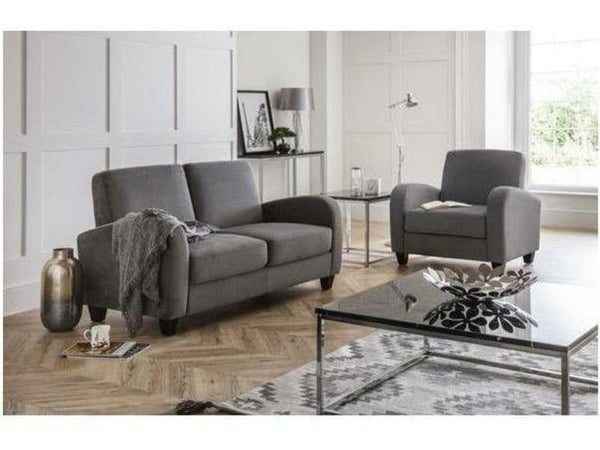 Vivo 3 Seater Sofa - Dusk Grey Chenille Fabric