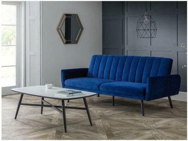 Afina Velvet Sofa Bed Blue