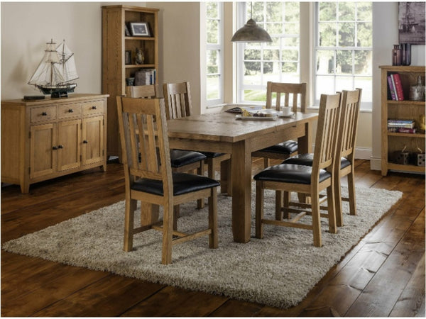 Astoria Oak/ Brown Dining Chair (Pack Of 2)